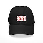 Number 55 Oval Black Cap