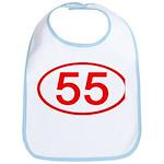 Number 55 Oval Bib