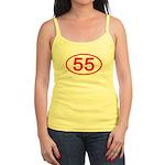 Number 55 Oval Jr. Spaghetti Tank
