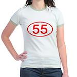Number 55 Oval Jr. Ringer T-Shirt