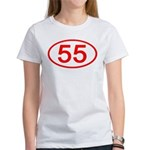 Number 55 Oval Women's T-Shirt