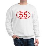 Number 55 Oval Sweatshirt