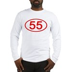 Number 55 Oval Long Sleeve T-Shirt