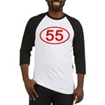 Number 55 Oval Baseball Jersey