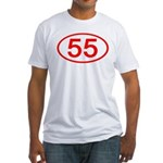 Number 55 Oval Fitted T-Shirt
