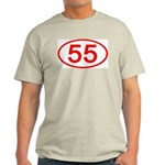 Number 55 Oval Ash Grey T-Shirt