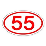 Number 55 Oval Oval Sticker