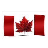 Canada Flag Art Souvenir Postcards 8 Pack