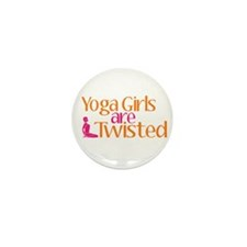 Yoga Girls Are Twisted Mini Button (100 pack)