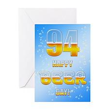 94th birthday beer Greeting Card