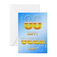 86th birthday beer Greeting Card