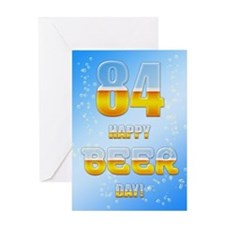 84th birthday beer Greeting Card