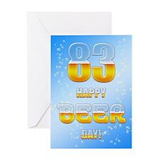 83rd birthday beer Greeting Card