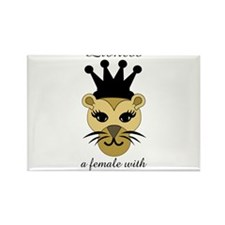 Lioness: a female with fierce courage Rectangle Ma