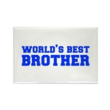 Worlds best-brother-fresh-blue Rectangle Magnet