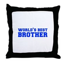 Worlds best-brother-fresh-blue Throw Pillow