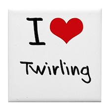 I love Twirling Tile Coaster