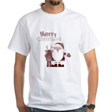 Santa with Reindeer T-Shirt