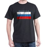 Russia Russian Flag Black T-Shirt