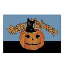 Vintage Halloween Cat In Pumpkin Postcards (Packag