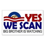 Yes We Scan Big Brother Bumper Sticker