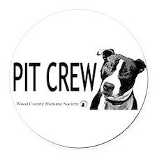 Pit Crew Round Car Magnet