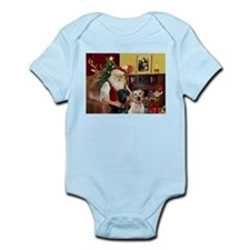 Santa's 2 Labs (Y+B) Infant Bodysuit