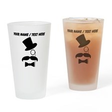 Personalized Mustache Face With Monocle Drinking G
