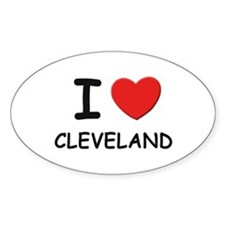 I love Cleveland Oval Decal
