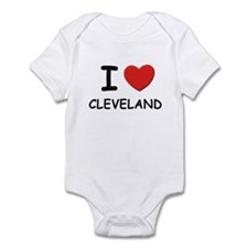 I love Cleveland Infant Bodysuit