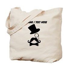 Personalized Mustache Face With Monocle Tote Bag
