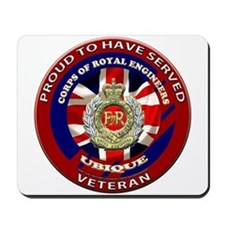 proud to be a royal engineer veteran Mousepad