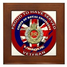 proud to be a royal engineer veteran Framed Tile