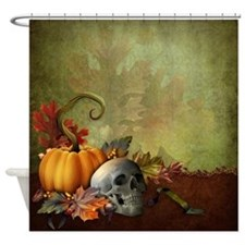 Halloween Skull Shower Curtain