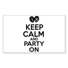 18 , Keep Calm And Party On Decal