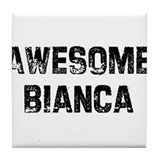 Awesome Bianca Tile Coaster