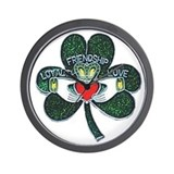 Shamrock Claddagh Wall Clock