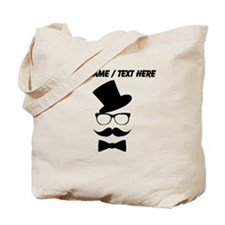 Personalized Mustache Face With Top Hat Tote Bag
