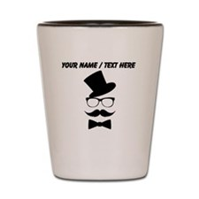 Personalized Mustache Face With Top Hat Shot Glass