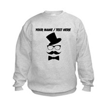 Personalized Mustache Face With Top Hat Sweatshirt