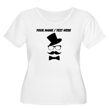 Personalized Mustache Face With Top Hat Plus Size