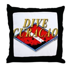 Dive Curacao Throw Pillow