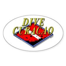Dive Curacao Oval Decal