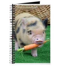 Micro pig with carrot Journal