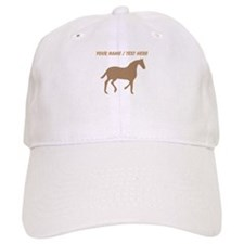 Personalized Brown Horse Silhouette Baseball Baseball Cap