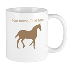Personalized Brown Horse Silhouette Mug