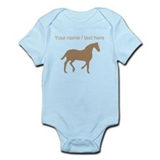 Personalized Brown Horse Silhouette Body Suit