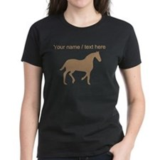 Personalized Brown Horse Silhouette T-Shirt