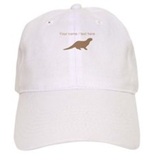 Personalized Brown Otter Silhouette Baseball Baseball Cap