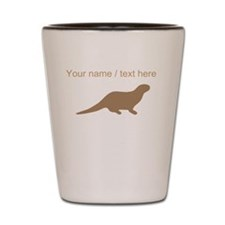 Personalized Brown Otter Silhouette Shot Glass